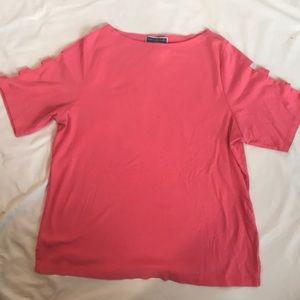 Pink women's shirt sleeve top